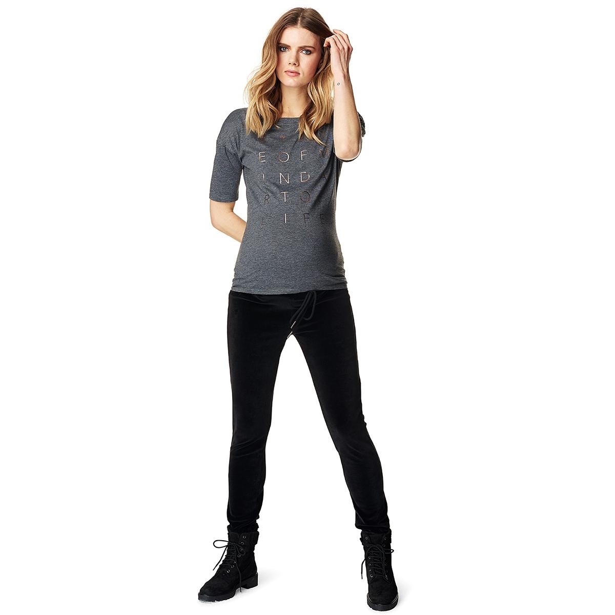 s0651 tee print supermom positie shirt antracite