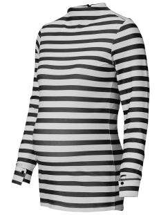 SuperMom Positie trui S0710 TOP STRIPED BLACK STRIPE