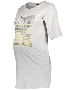 SuperMom Positie shirt S0739 TEE PRINT GOLD LIGHT GREY