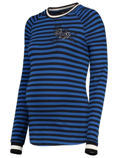 SuperMom Positie shirt S0815 C149 Blue Stripe