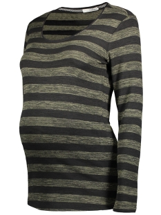 S0363 PULLOVER STRIPED Army Melange