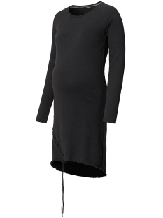 SuperMom Positie jurk S0511 DRESS SWEAT LACE UP Black