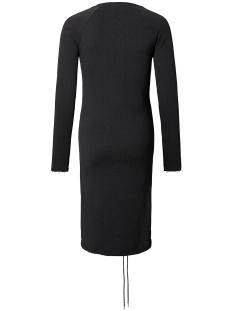 s0511 dress sweat lace up supermom positie jurk black