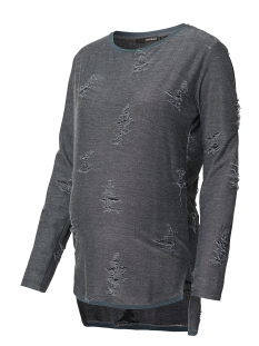 SuperMom Positie trui S0564 SWEAT DESTROYED GREY