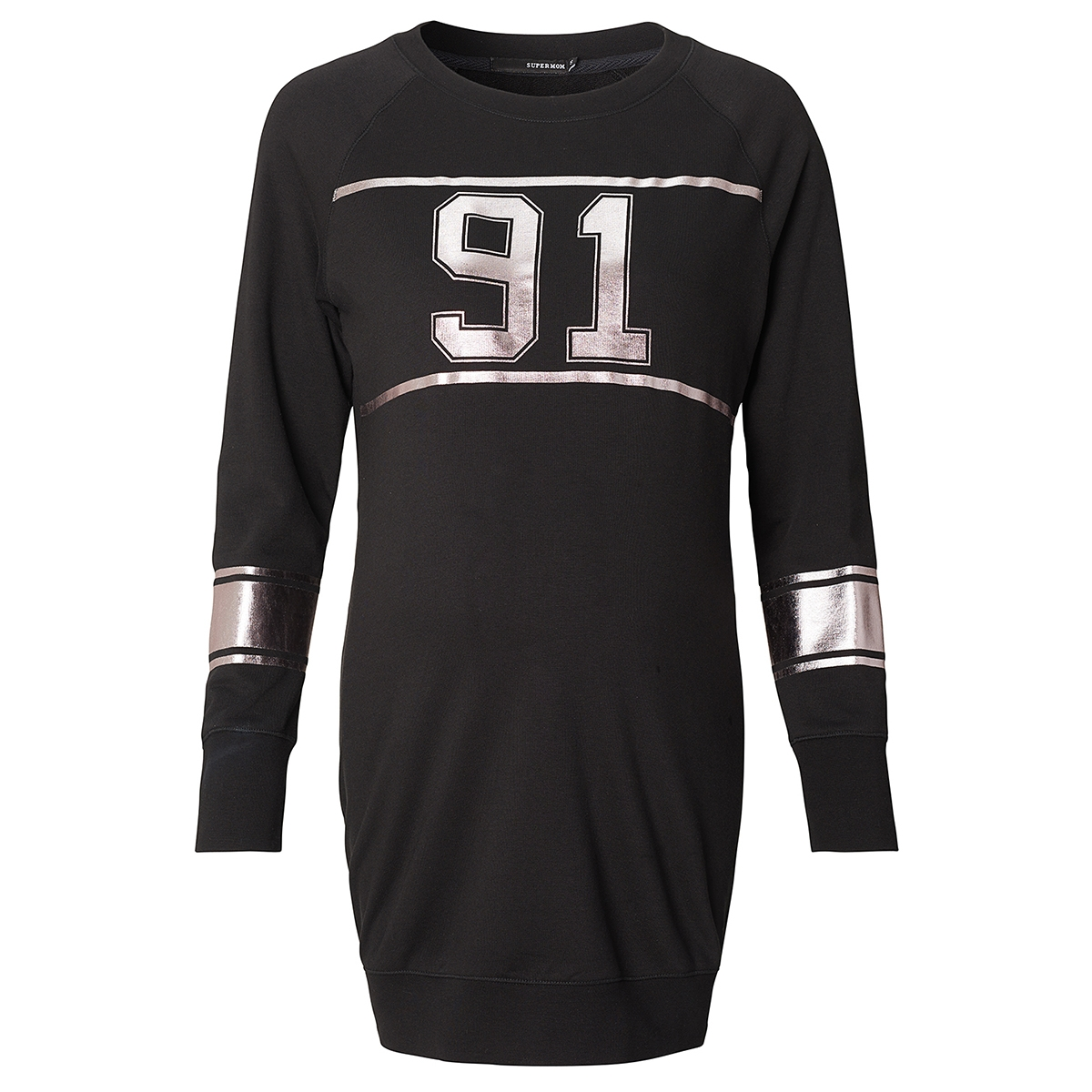 s0657 sweat long supermom positie trui black