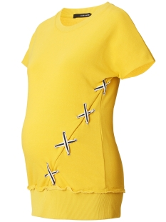 SuperMom Positie shirt S0732 SWEATER LACE UP YELLOW