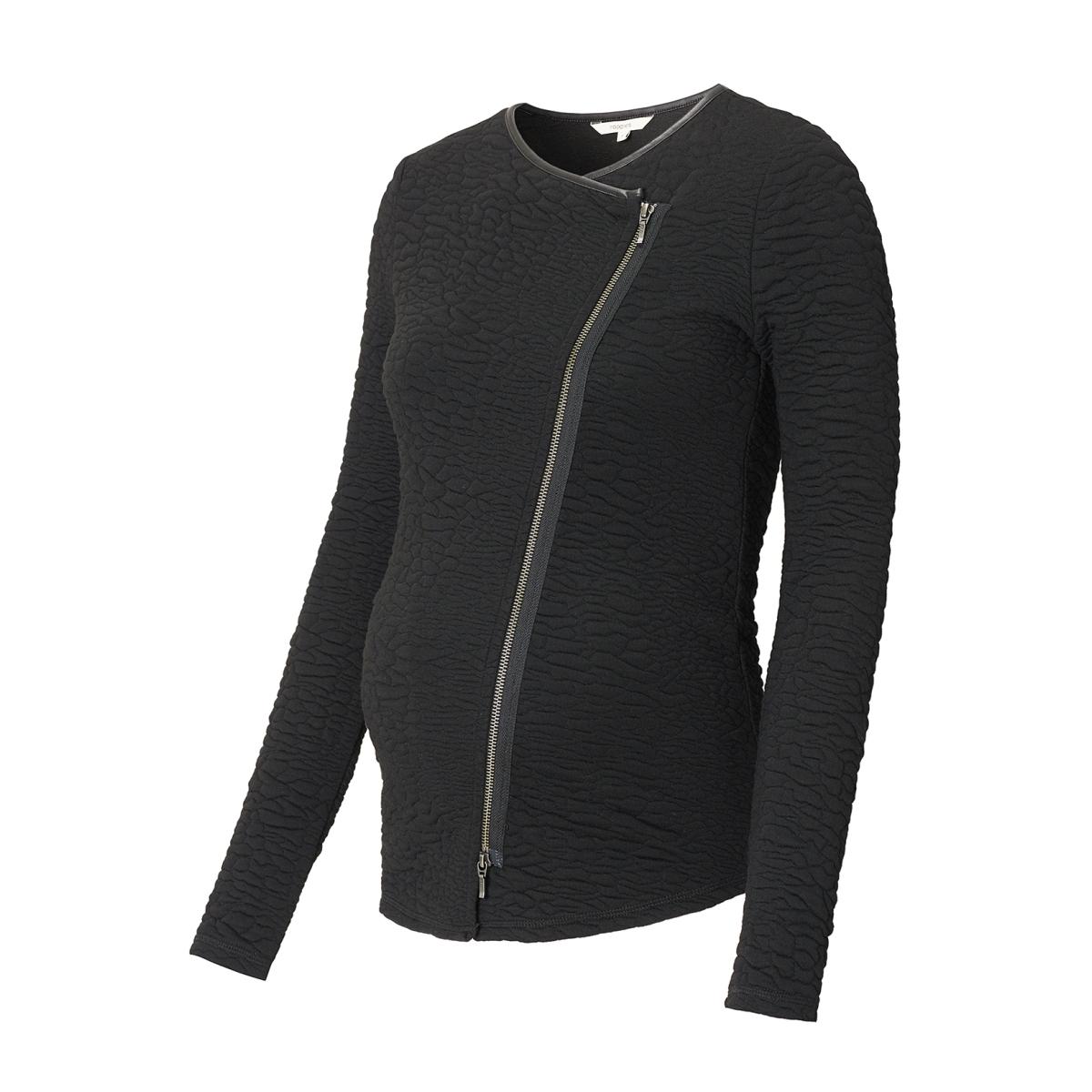 70829 cardigan siri noppies positie vest black