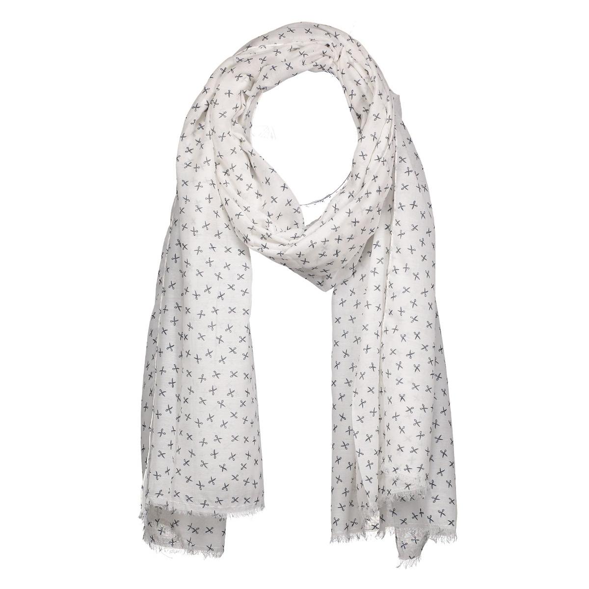 vmscissor long scarf 10163730 vero moda sjaal snow white