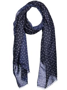 vmscissor long scarf 10163730 vero moda sjaal navy blazer