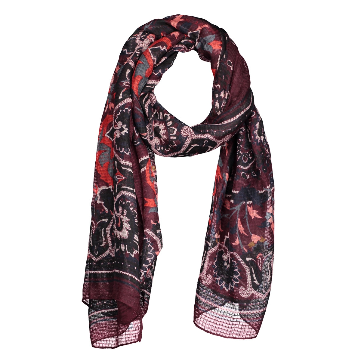 pcpava long scarf 17076754 pieces sjaal fig
