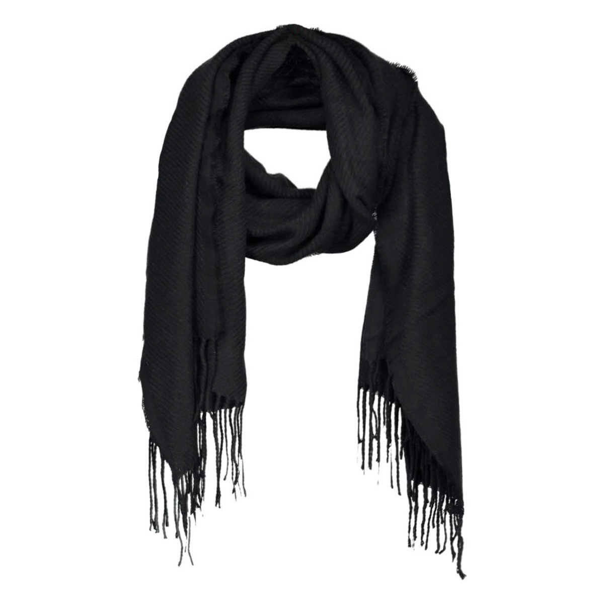 kial long scarf noos 17057386 pieces sjaal black