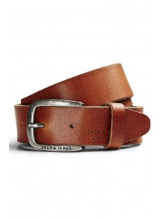 Jack & Jones Riem JJIPAUL JJLEATHER BELT NOOS 12111286 Mocha Bisque