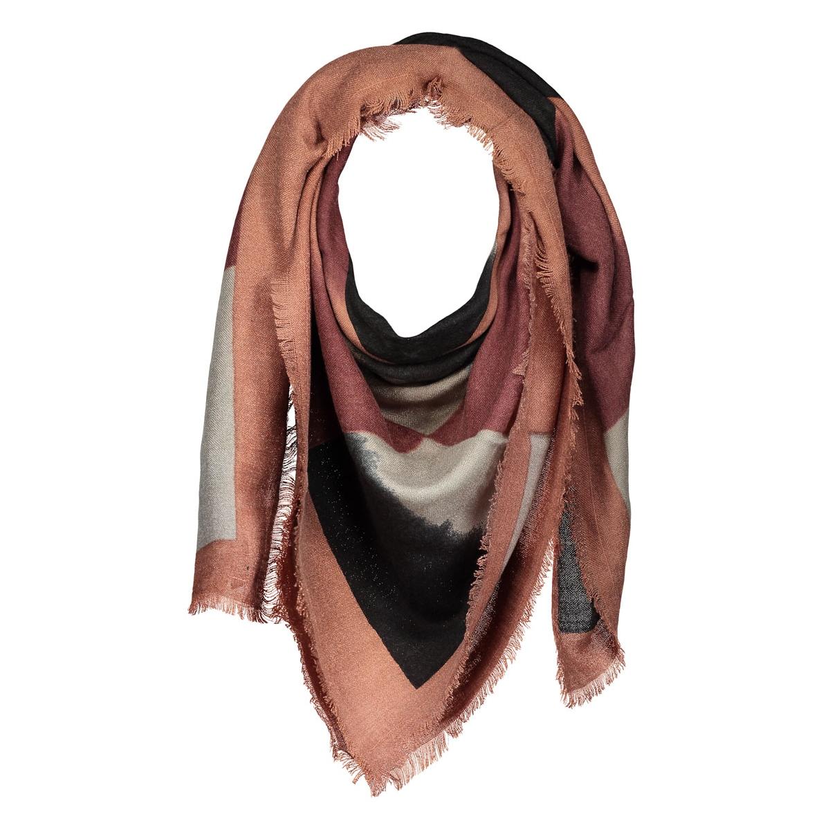 pcpanta square scarf 17076935 pieces sjaal copper brown
