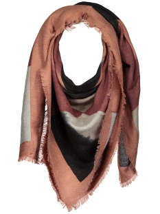 pcpanta square scarf 17076935 pieces sjaal copper brown