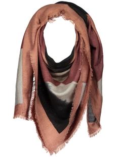 Pieces Sjaals PCPANTA SQUARE SCARF 17076935 Copper Brown