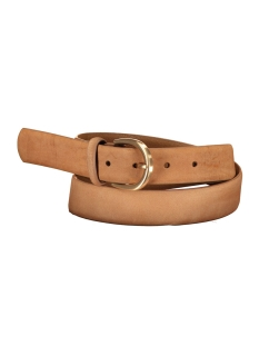 pcfamous leather jeans belt noos 17077743 pieces riem cognac