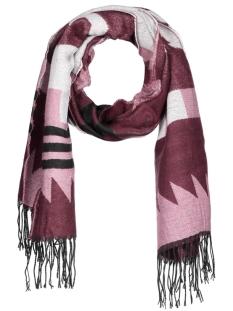 onlsheena weaved scarf ac noos 15121746 only sjaal windsor wine