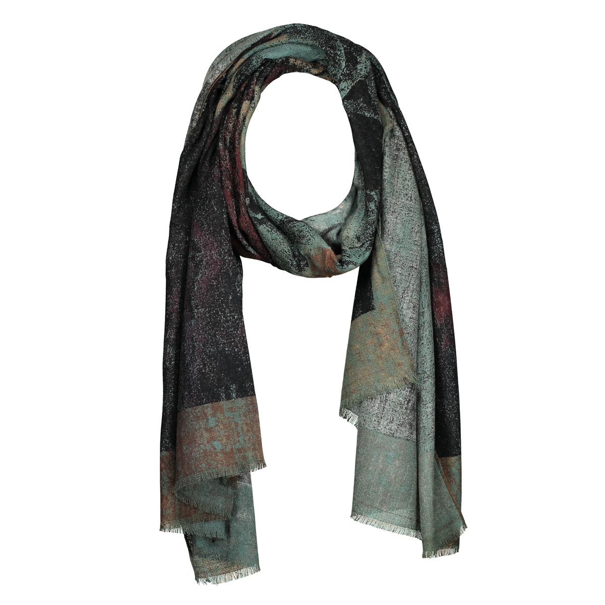 pcpadis long scarf 17076936 pieces sjaal black