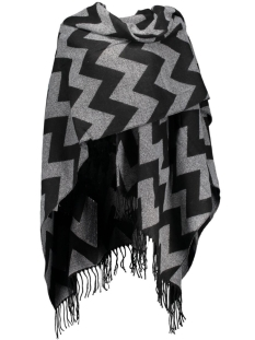Only Poncho onlADETTE WEAVED PONCHO ACC 15121737 Black