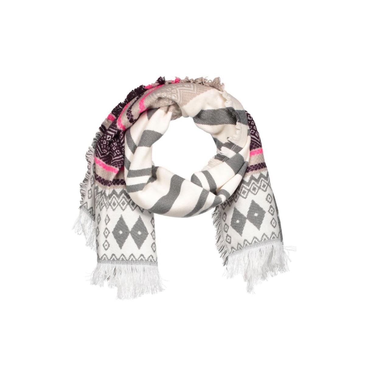 vmeve long scarf 10159746 vero moda sjaal snow white/w. decaden