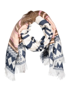 vmeve long scarf 10159746 vero moda sjaal snow white/w. cream t