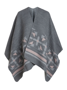pcpil cape 17075995 pieces poncho dark grey melange