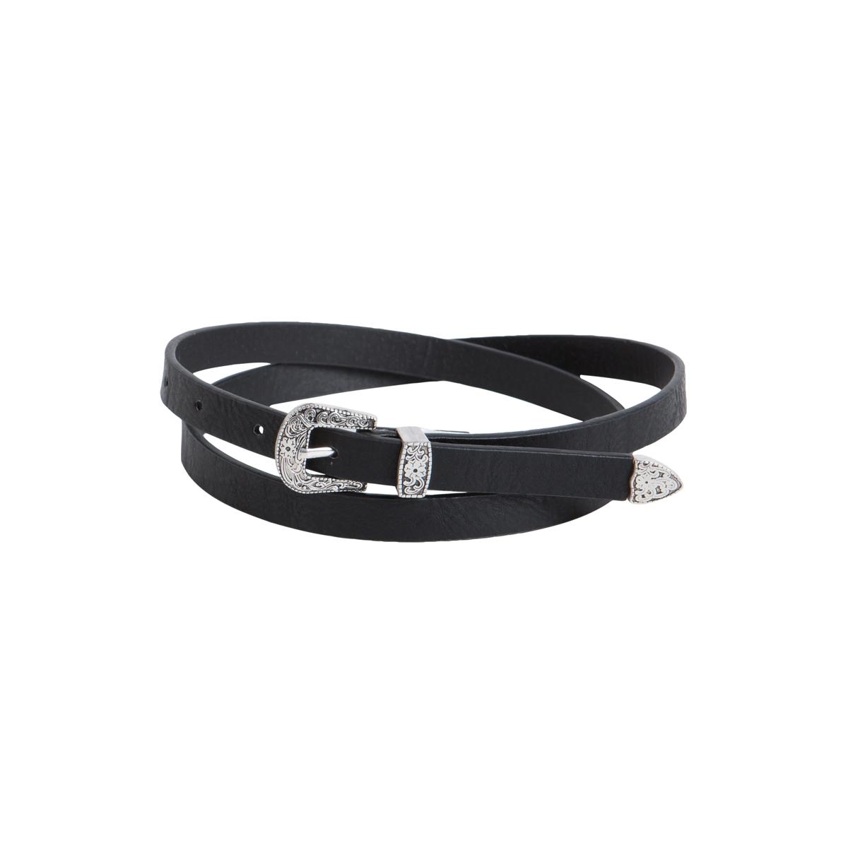 pcpalosa slim jeans belt 17076538 pieces riem black