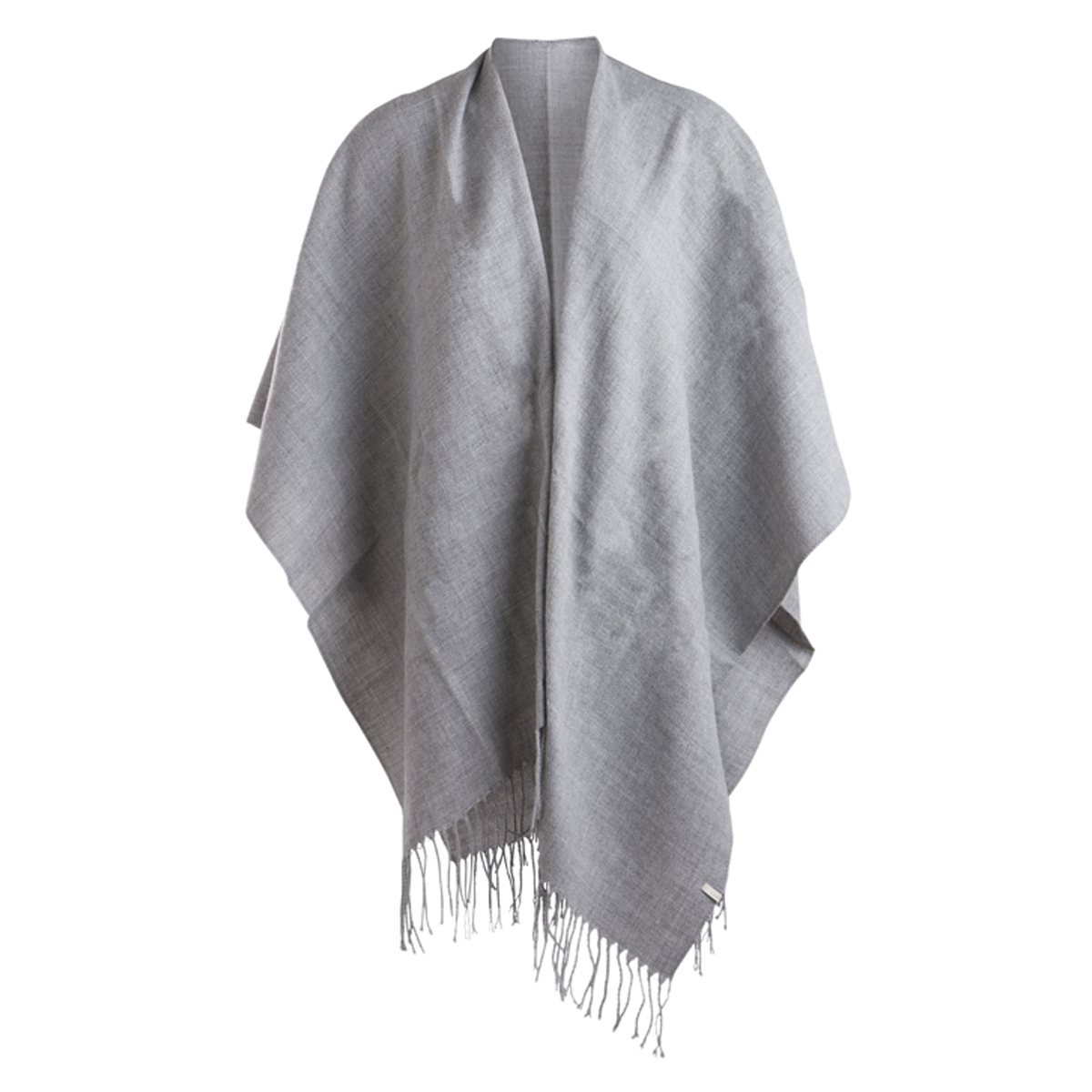 pcraelyn cape noos 17066912 pieces poncho light grey melange