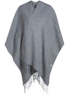 pcraelyn cape noos 17066912 pieces poncho dark grey melange