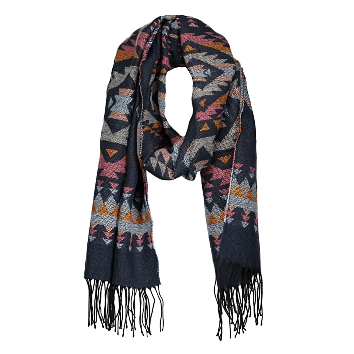 pcmova long scarf 17079119 pieces sjaal bright white