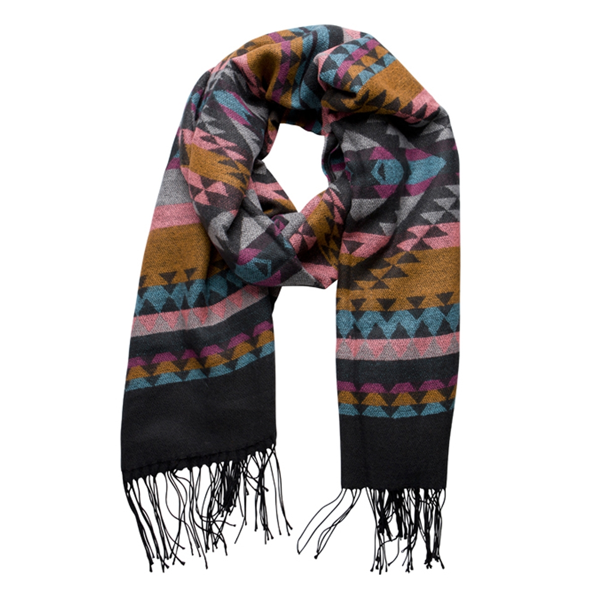 pcmova long scarf 17079119 pieces sjaal black