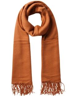 Pieces Sjaals KIAL LONG SCARF NOOS 17057386 Copper Brown