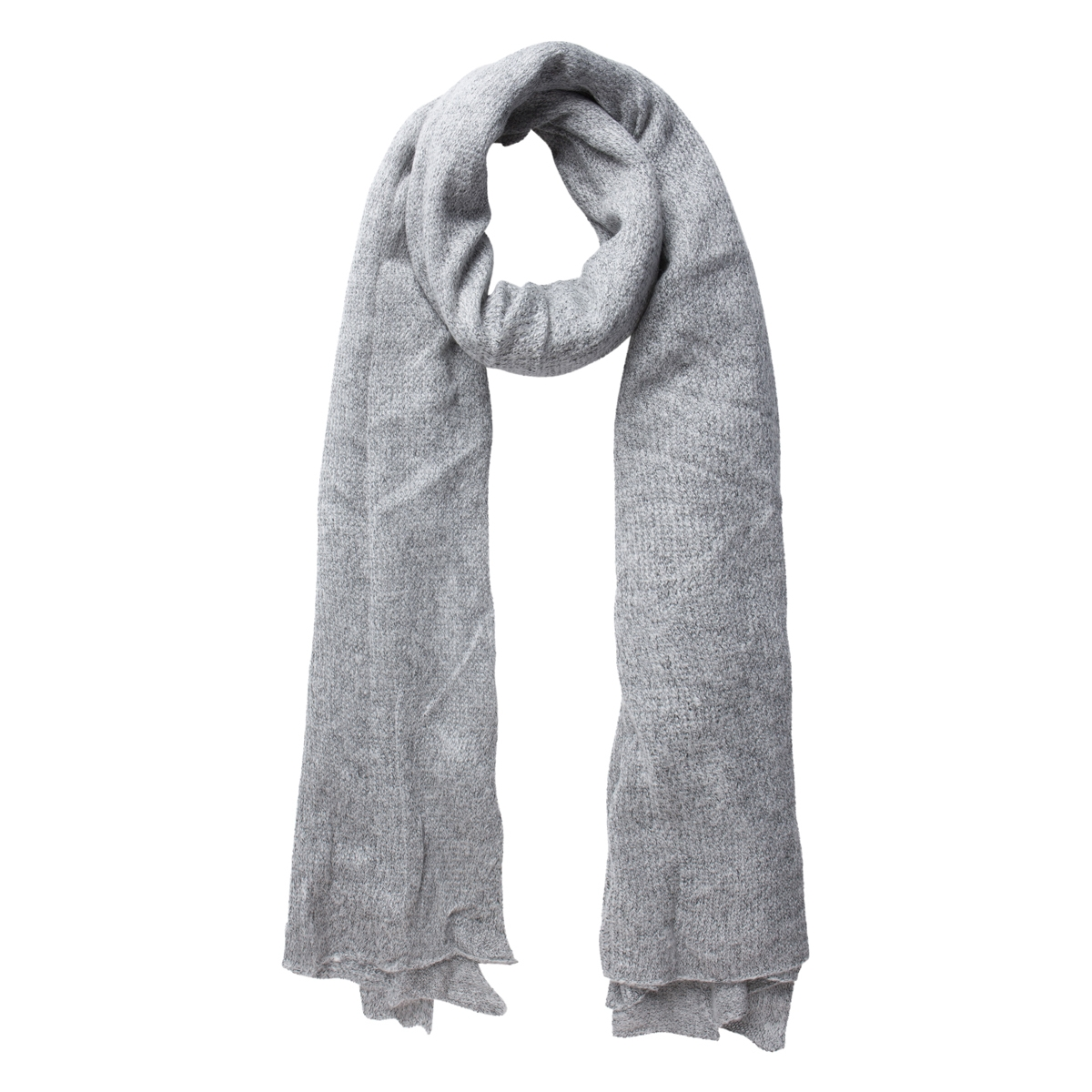 pcpeta long scarf 17076040 pieces sjaal light grey melange