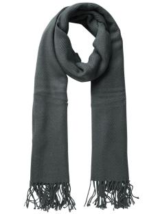 kial long scarf noos 17057386 pieces sjaal dark grey melange