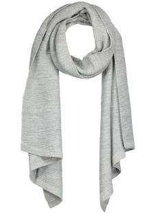 onlomega knit scarf acc noos 15121865 only sjaal light grey melange