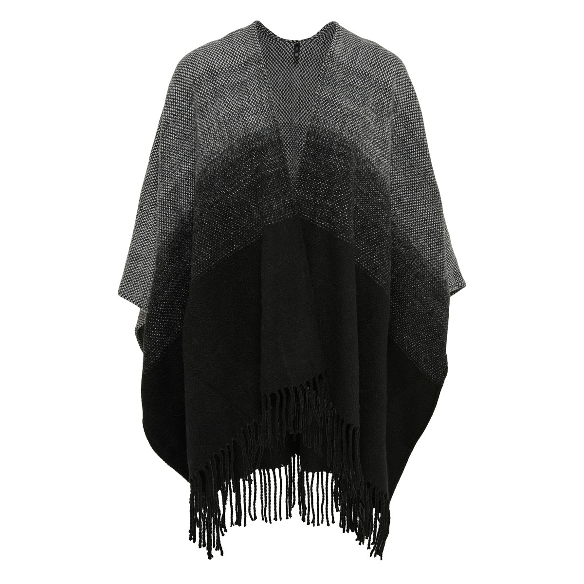 onlsoby weaved poncho acc 15121908 only poncho black