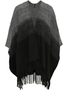 Only Poncho onlSOBY WEAVED PONCHO ACC 15121908 Black
