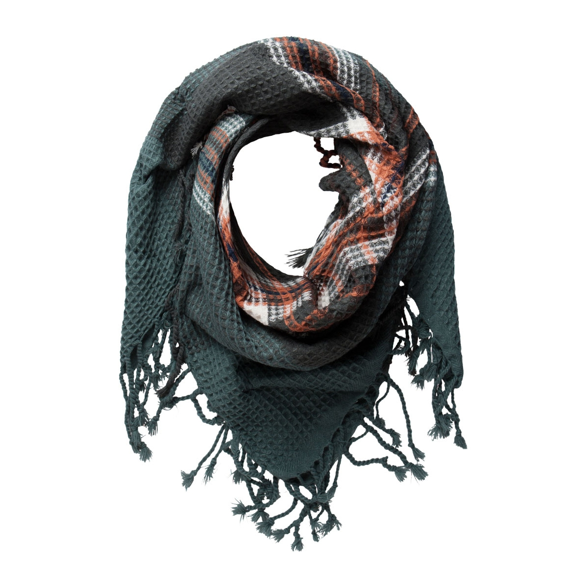 pcpaula square scarf 17075900 pieces sjaal balsam green