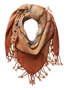 Pieces Sjaal PCPAULA SQUARE SCARF 17075900 Copper Brown