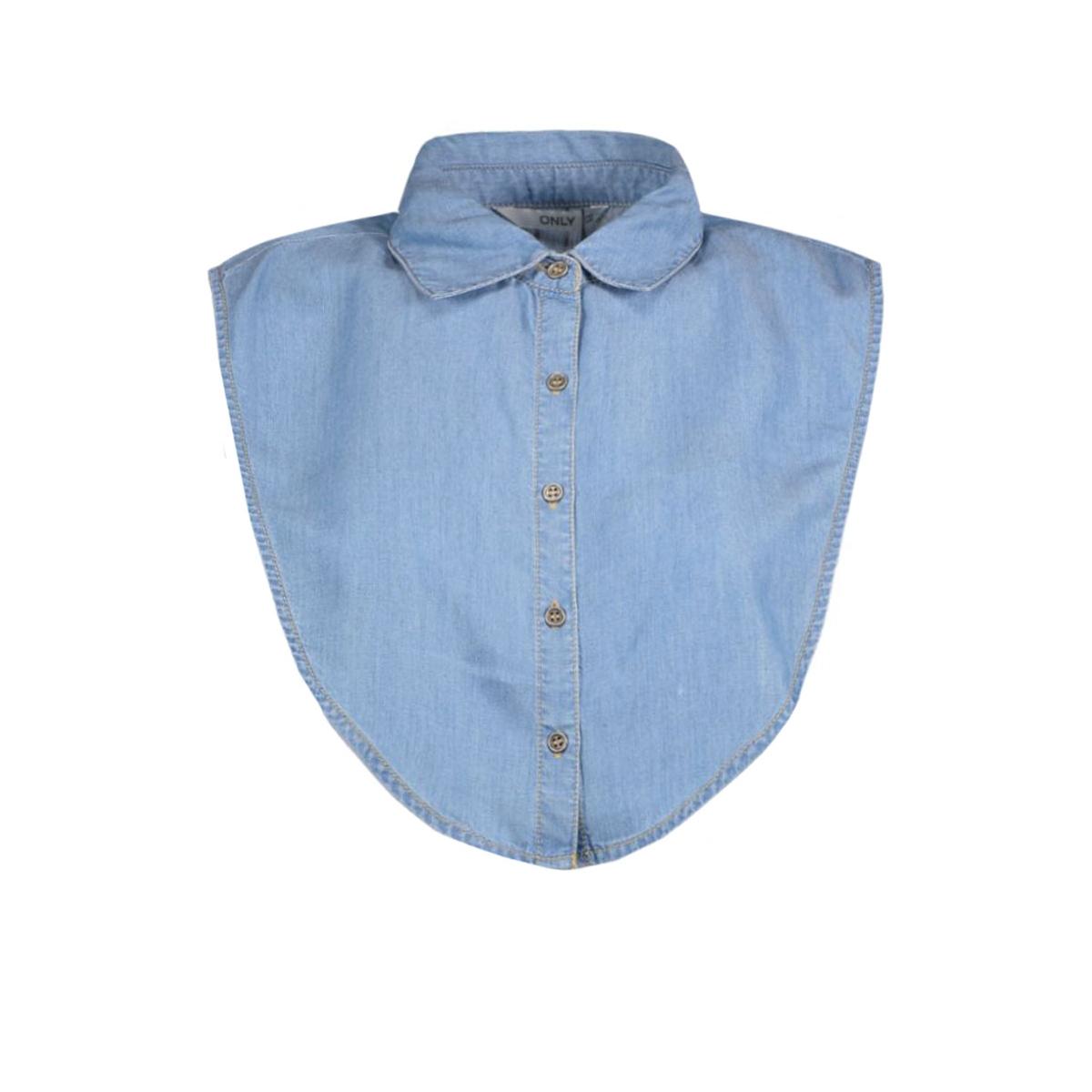 onlcory denim collar acc 15133161 only accessoire light blue denim