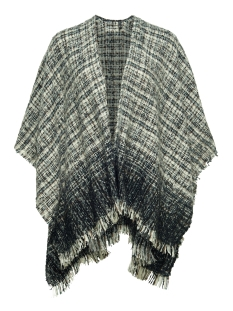 onlOPAL WEAVED PONCHO ACC 15121914 Cloud Dancer/Jet Set