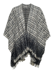 Only Poncho onlOPAL WEAVED PONCHO ACC 15121914 Cloud Dancer/Grey tones