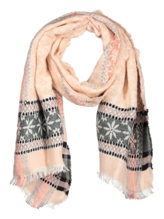 Only Sjaal onlMARILYN JAQUARD SCARF ACC 15127558 Cloud Dancer/ Burnt Henn