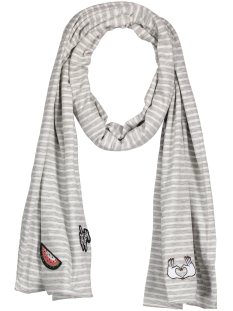 Only Sjaal onlRUTH JERSEY LONG SCARF ACC 15136441 Light Grey Mela/Cloud Dancer