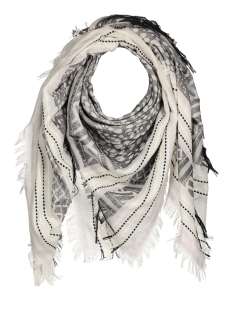 Only Sjaal onlBRIDGET WEAVED SCARF ACC REP 15137406 White/ Black Fie