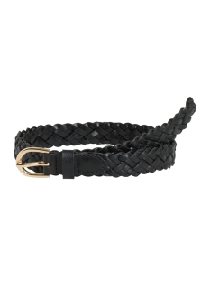 Pieces Riem PCAVERY LEATHER BRAIDED SLIM BELT NOOS 17077740 Black