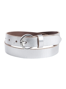 PCMEGAN LEATHER JEANS BELT 17081195 Silver Colour