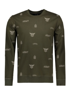 Only & Sons Sweater onsPATCH AOP CREW NECK EXP 22006762 Forest Green