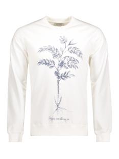 onsDEREK WASHED PRINTED CREW NECK EXP Blanc de Blanc