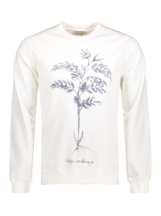Only & Sons Trui onsDEREK WASHED PRINTED CREW NECK EXP Blanc de Blanc